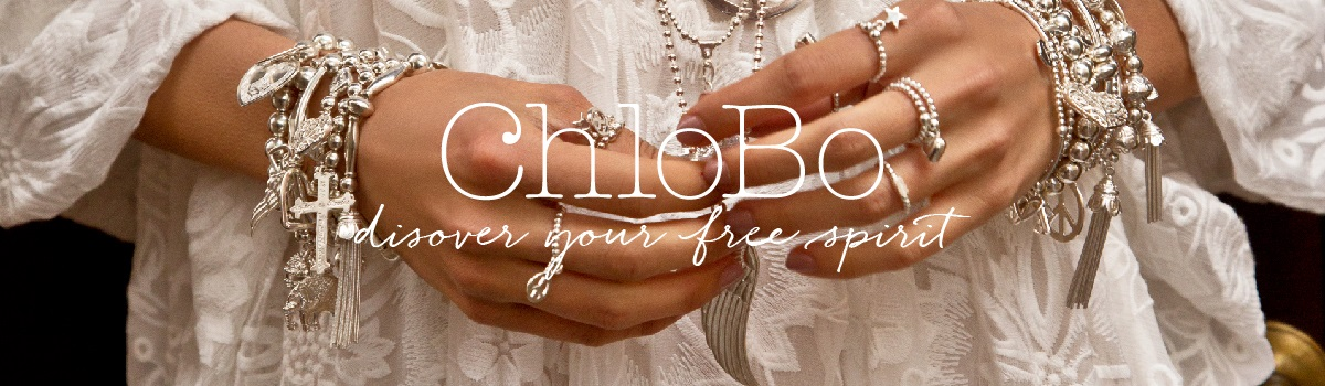 Banner showing the Chlobo brand of Jewellery
