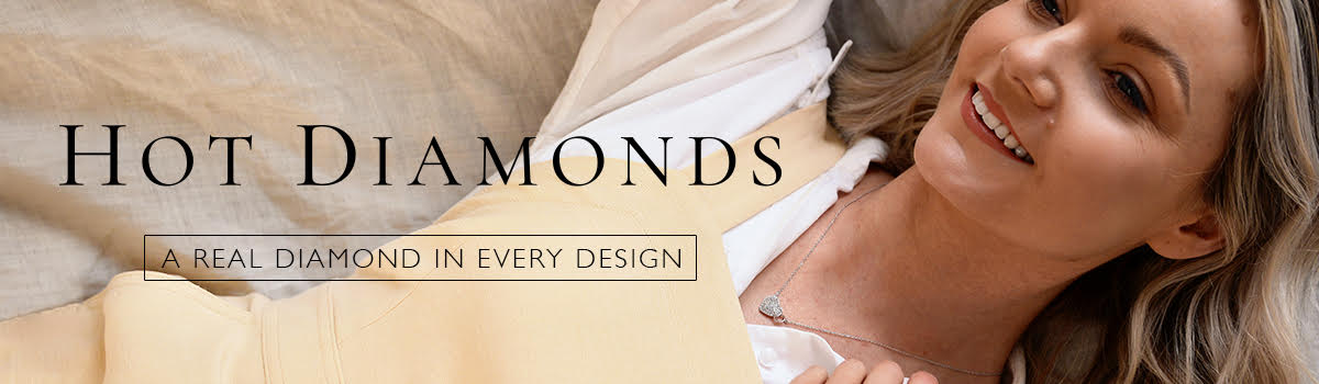 Banner showing the Hot Diamonds brand of Jewellery