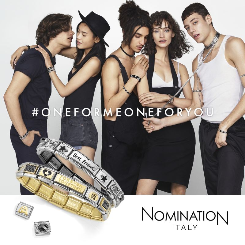 A collage of images from the Nomination brand of jewellery